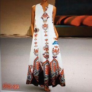 Bohemian Maxi Dress, XXL, 2X